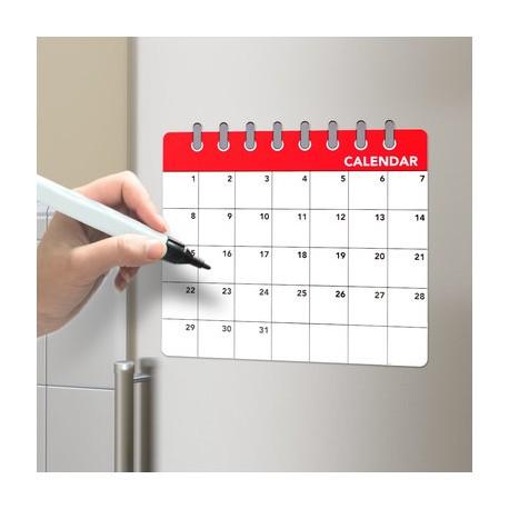 Imán para la nevera con diseño calendario.