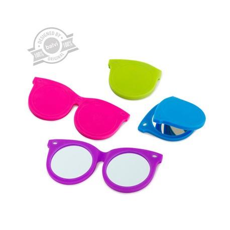 Espejo de bolsillo, diseño gafas.
