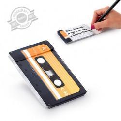 Libreta notas, diseño casette.