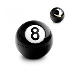 Cenicero con diseño bola de billar No. 8.