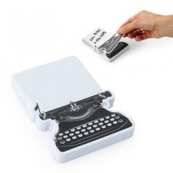 Memo de notas, diseño máquina de escribir.